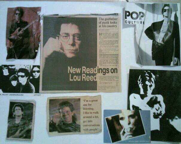 Lou Reed and friends. Bowie, Iggy Pop, Velvet Underground.