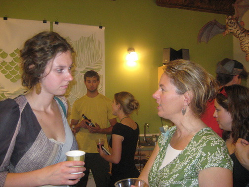Left to right:  Rebecca Tanner and Dawn Frank.
